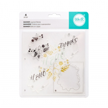 We R Memory Keepers Clear Stamp Schriftzug