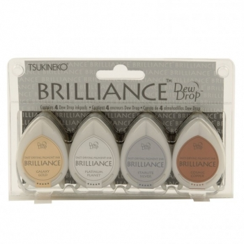 Brilliance dew drop ink pad x4 set planetarium