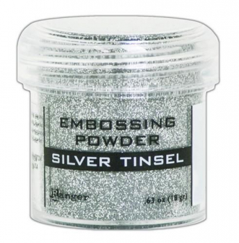 Ranger Embossing Powder, silver tinsel